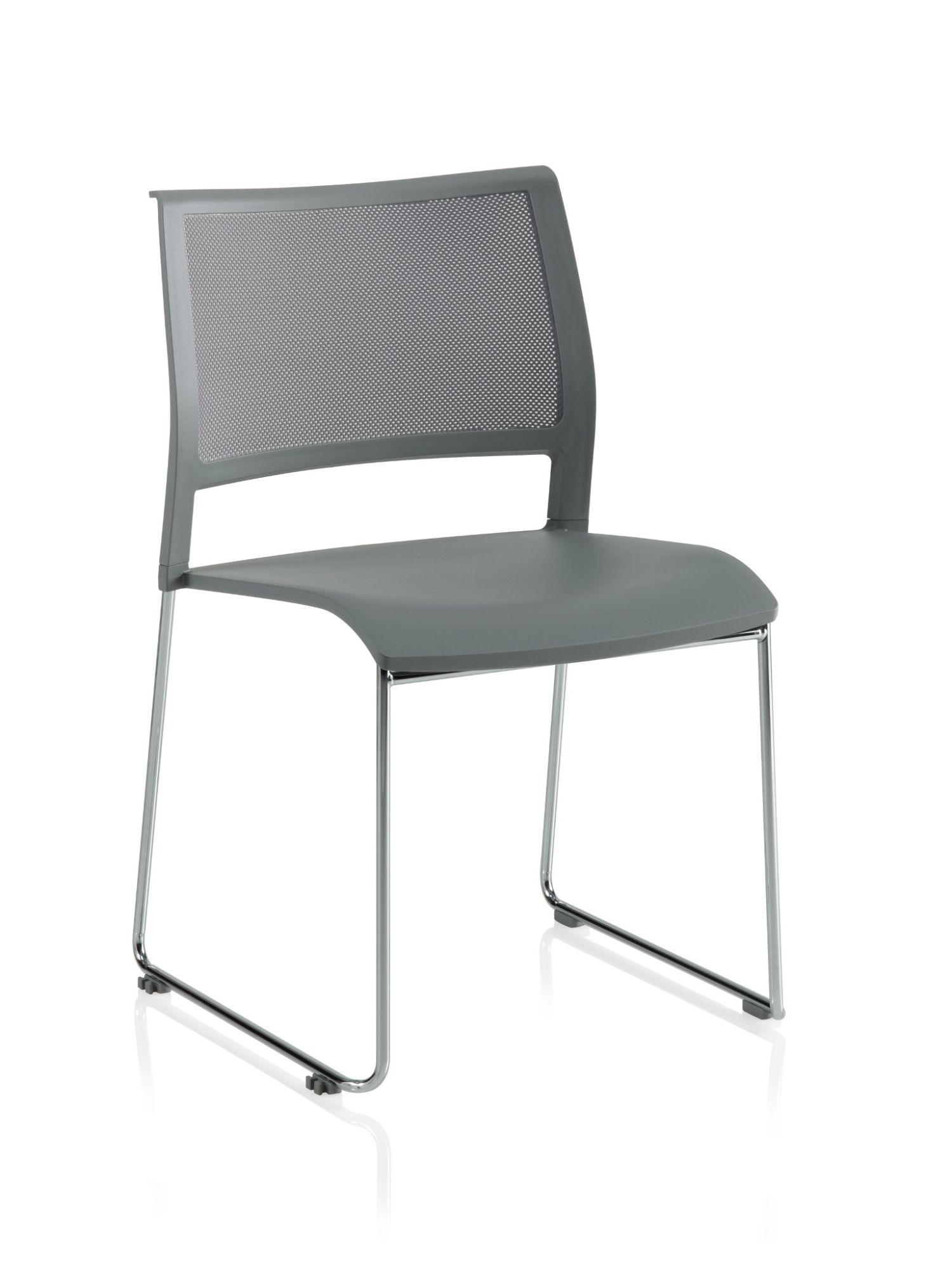 stone grey opt4 sled base chair