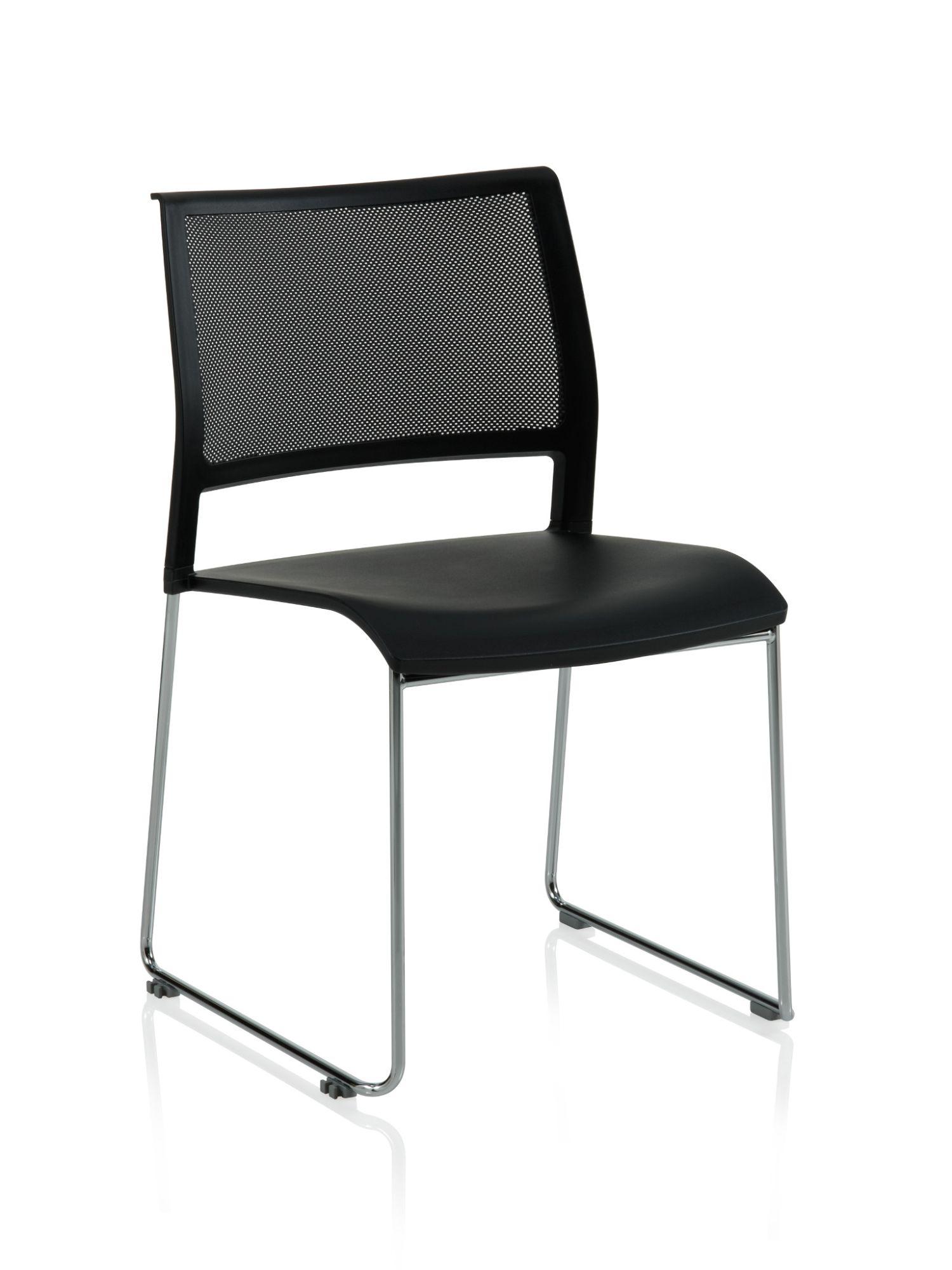 black opt4 sled base chair