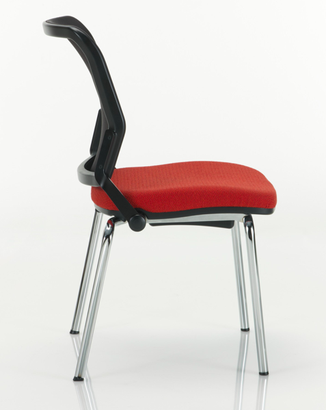 torsion air stack chair side view