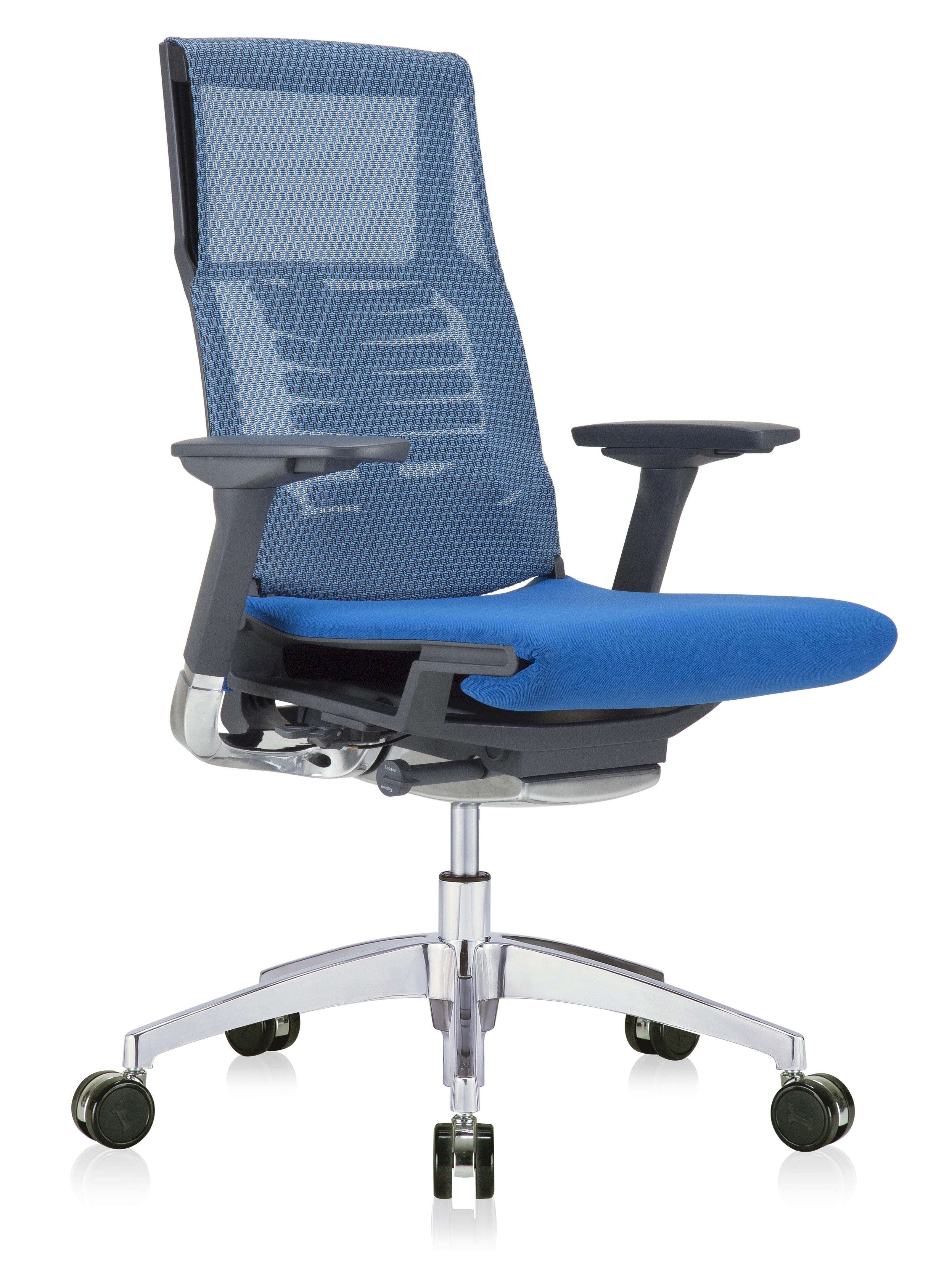 eurotech powerfit blue mesh chair