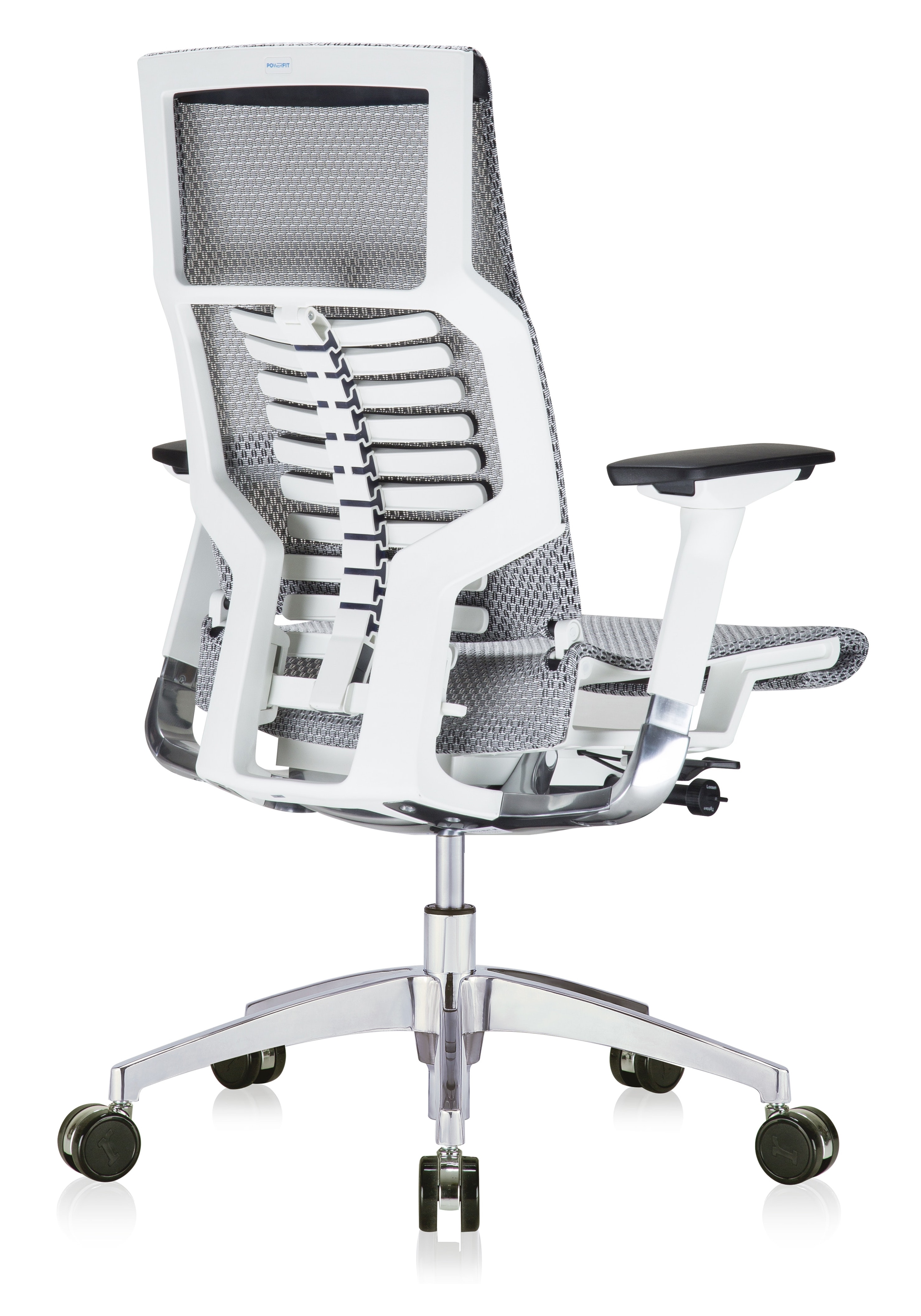 powerfit bionic chair angled view