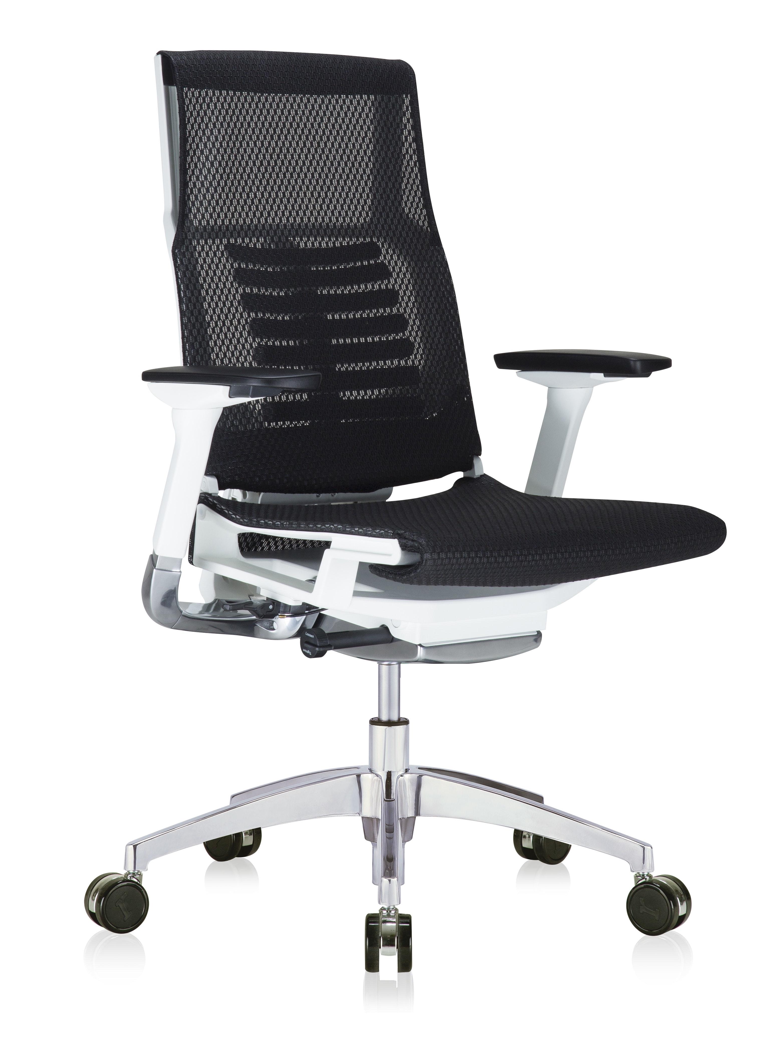 eurotech powerfit black mesh office chair