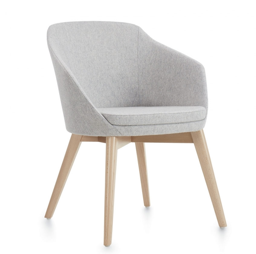 global drift fabric guest chair with wood legs