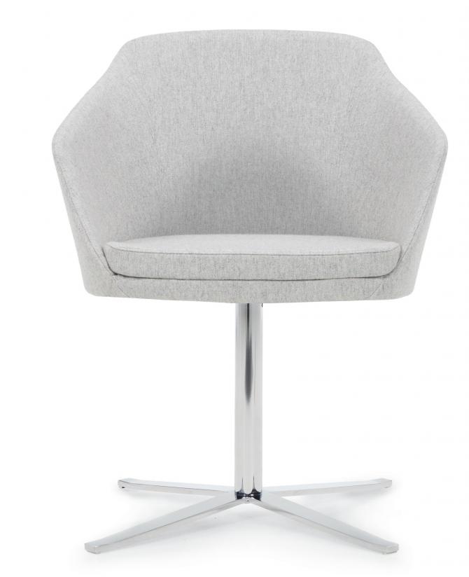model 8032 drift side chair with chrome swivel base