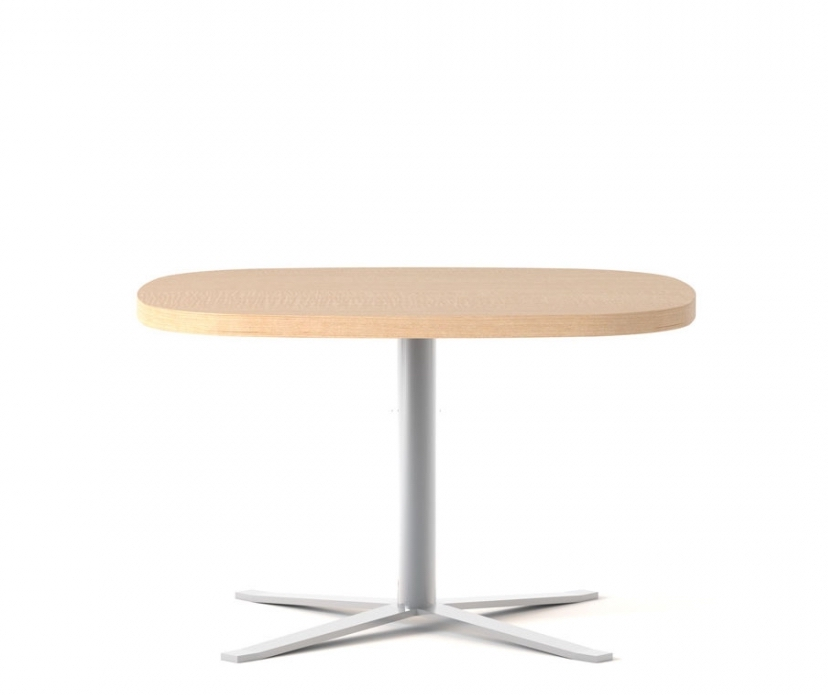 global drift oval laminate table with chrome base