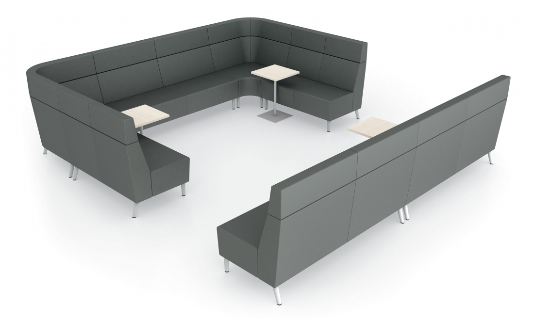 global river large modular waiting room set with power