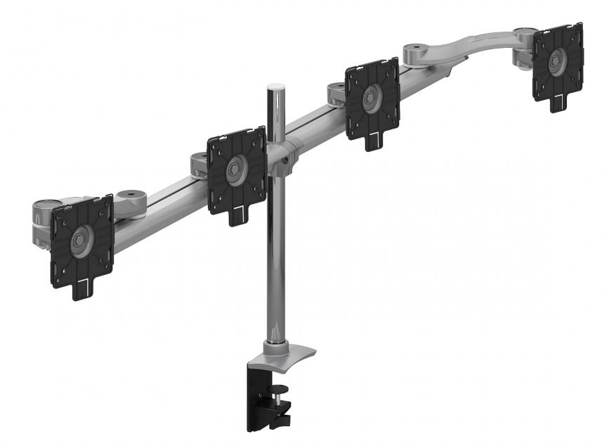 global parabolic quad screen monitor mount