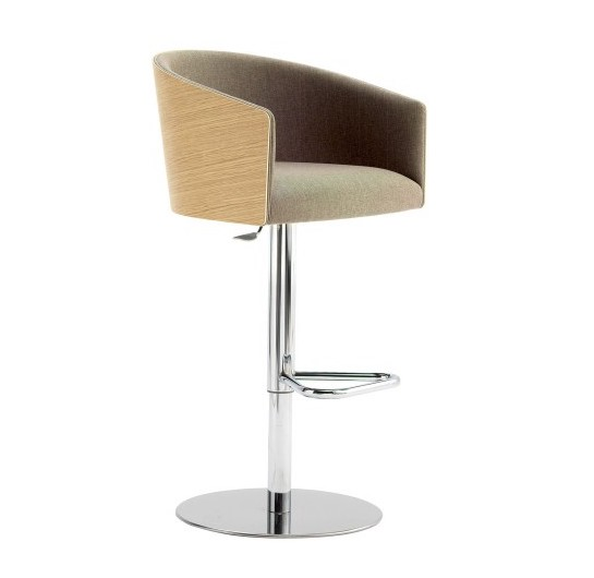albert bar stool with wood accented back