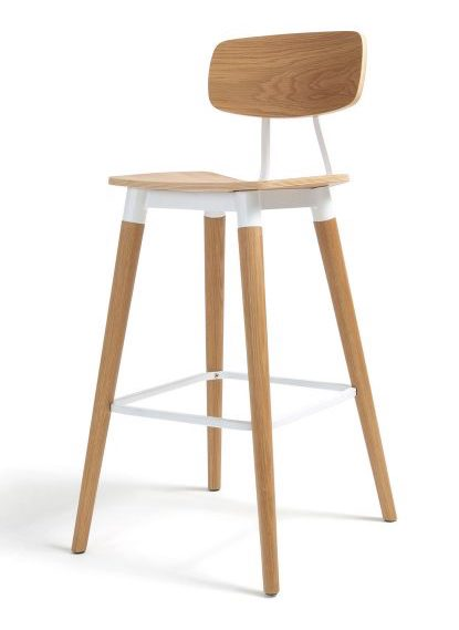 dix copine series wood bar stool