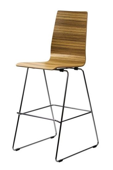 mila contemporary curved wood bar stool