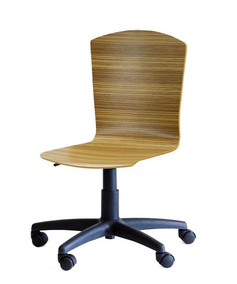 tibro curved wood office chair