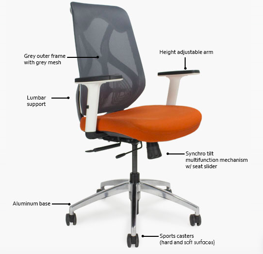 roswell chair features