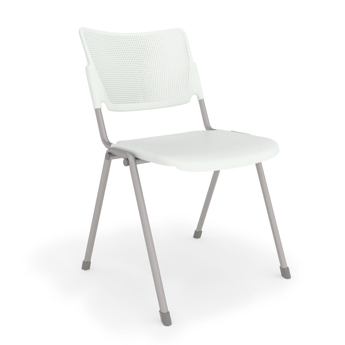 la mia white stack chair