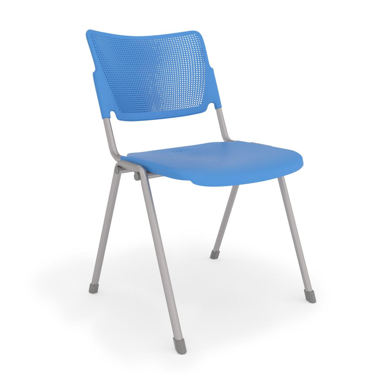 la mia blue stack chair