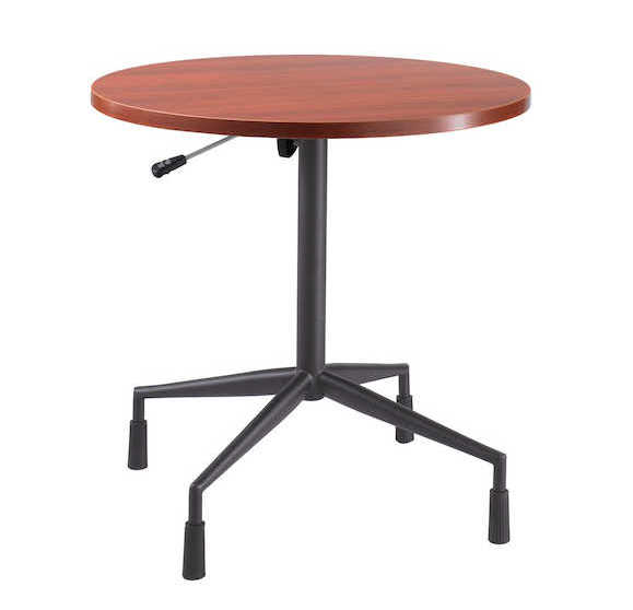 rsvp table with cherry top and black base