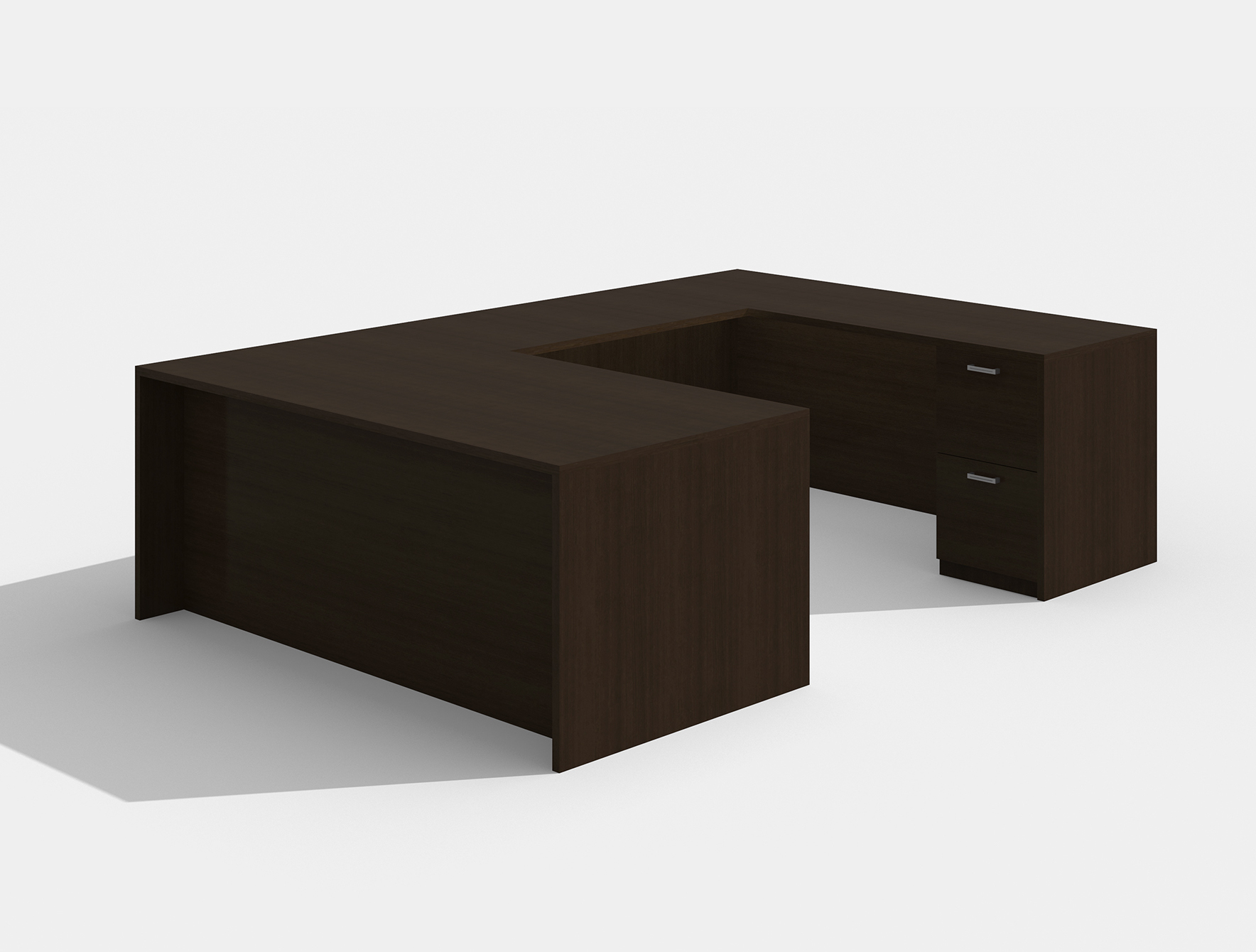 amber reversible black cherry u desk