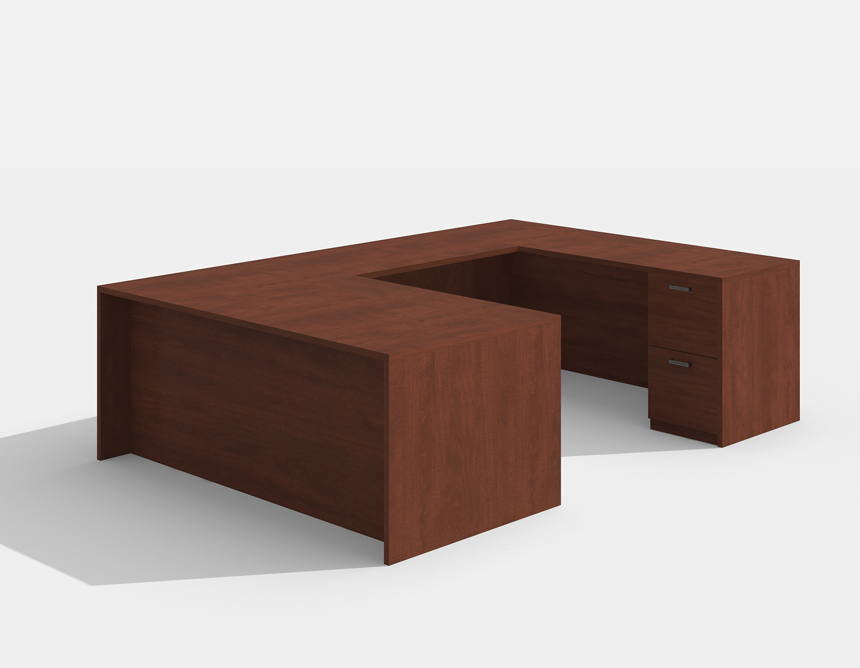 amber reversible cherry u desk