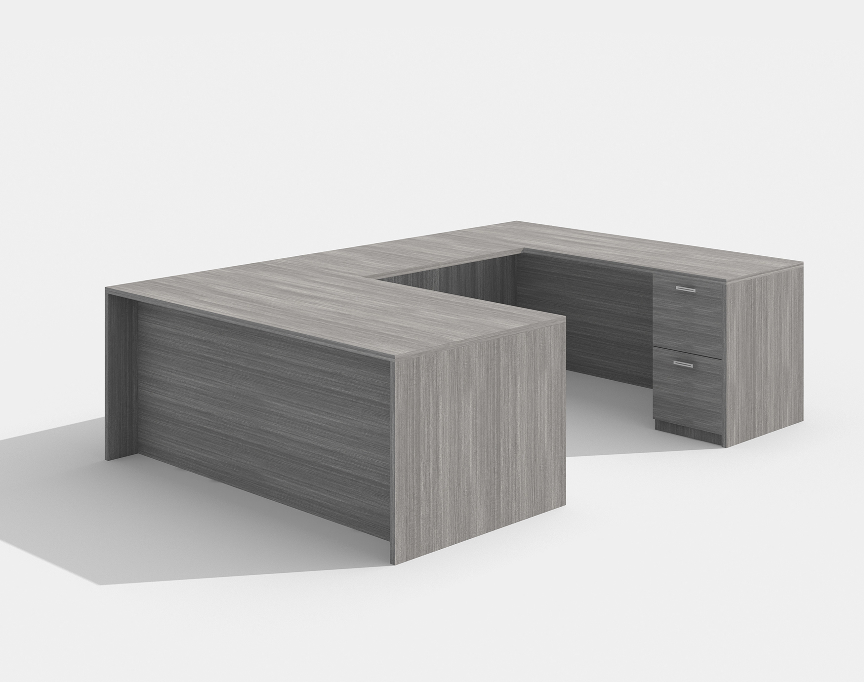 amber reversible valley gray u desk
