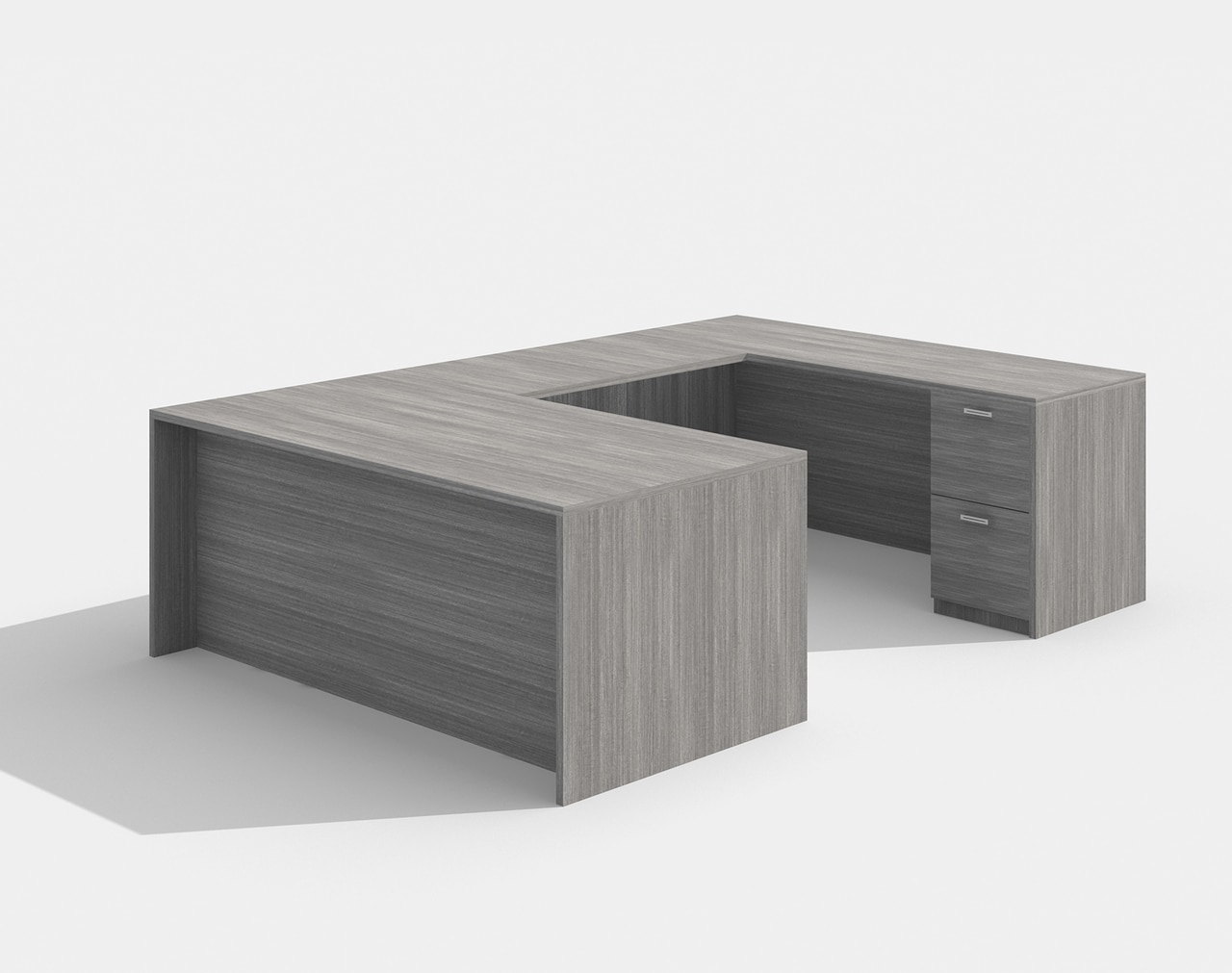 am-422n amber straight front valley gray u desk