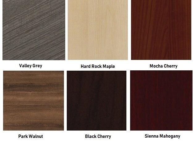 cherryman amber desk finish options