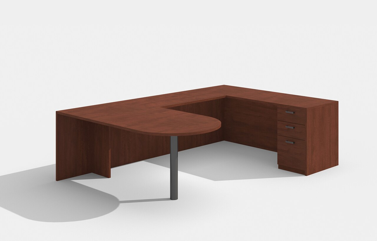 am-380n amber u desk in cherry
