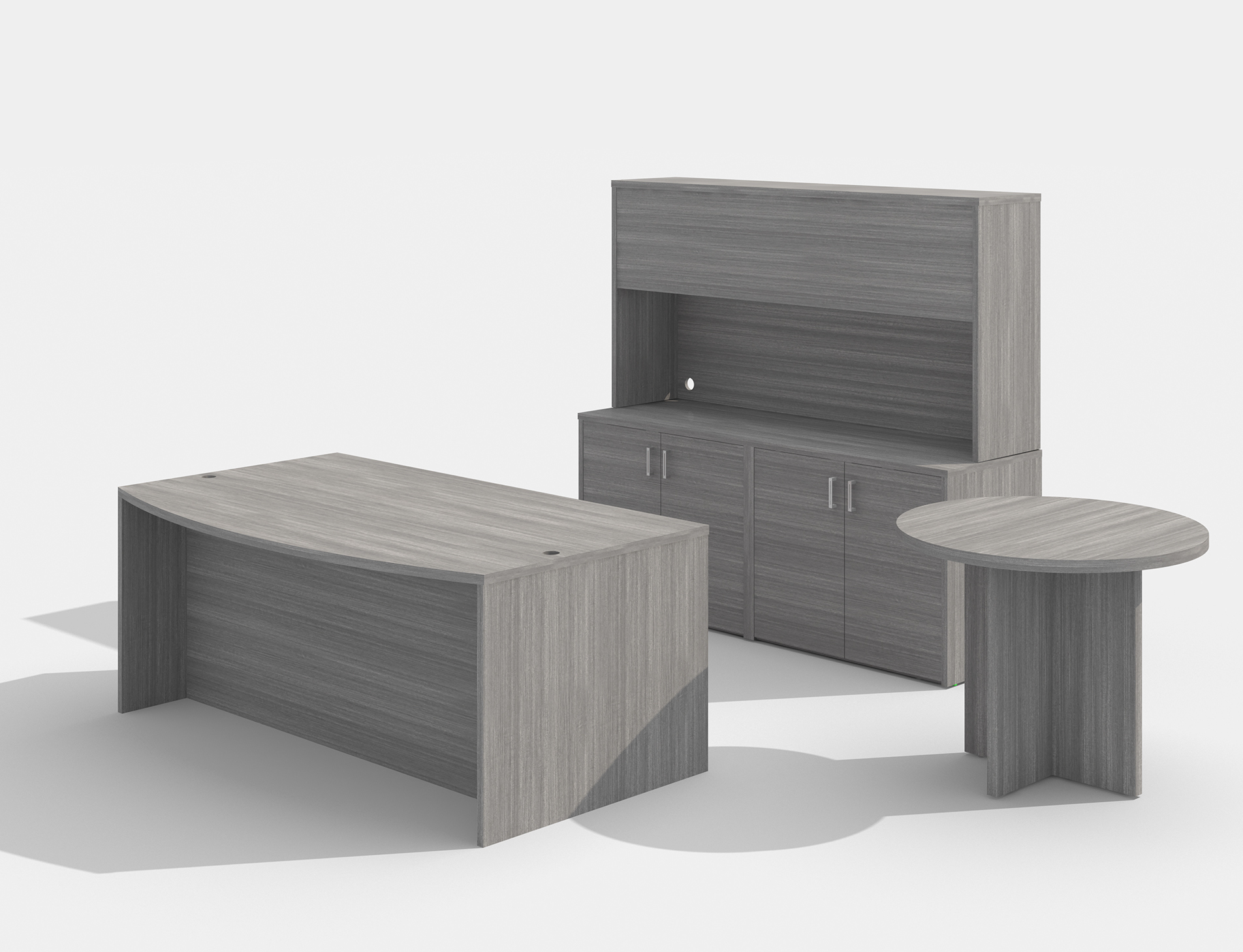 am-383n amber desk set with a722 side table in valley grey