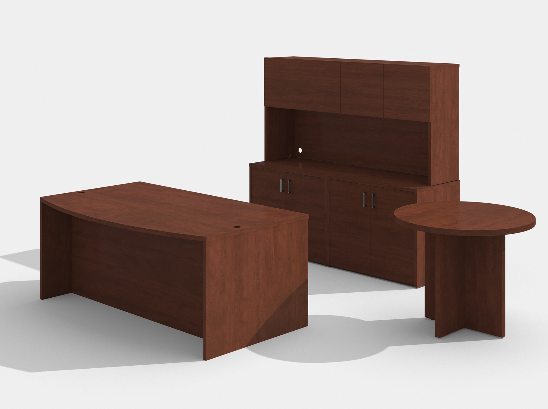 am-383n amber desk set with a722 side table in cherry