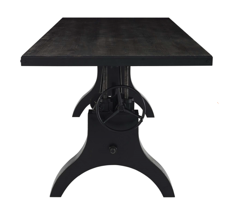 retro style height adjustable conference table