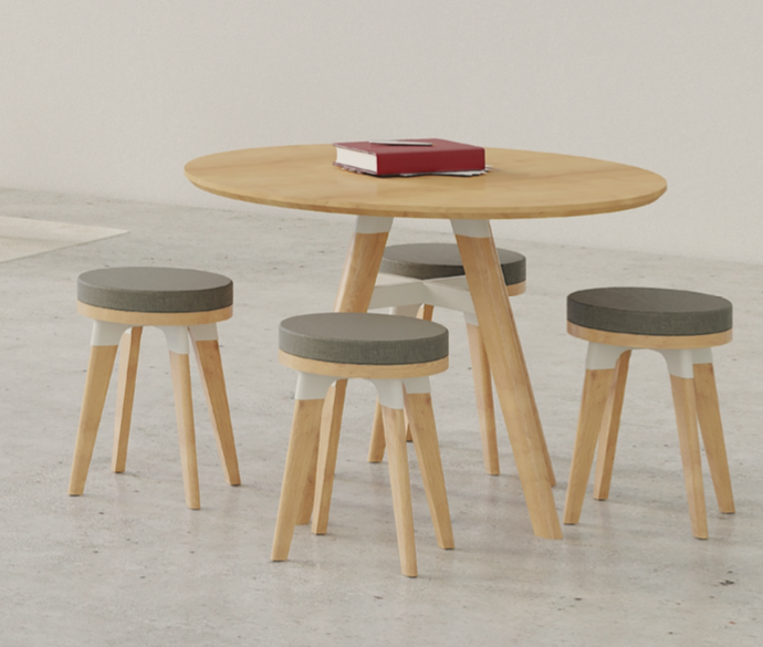 safco resi sitting stools with table
