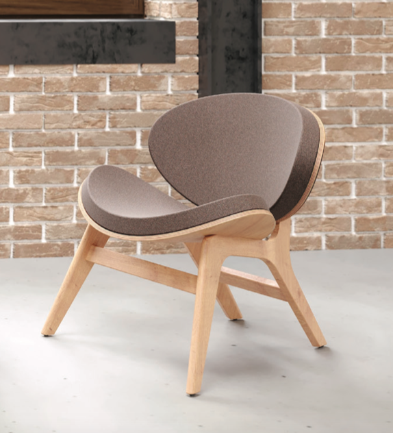 resi series coupe wood guest chair