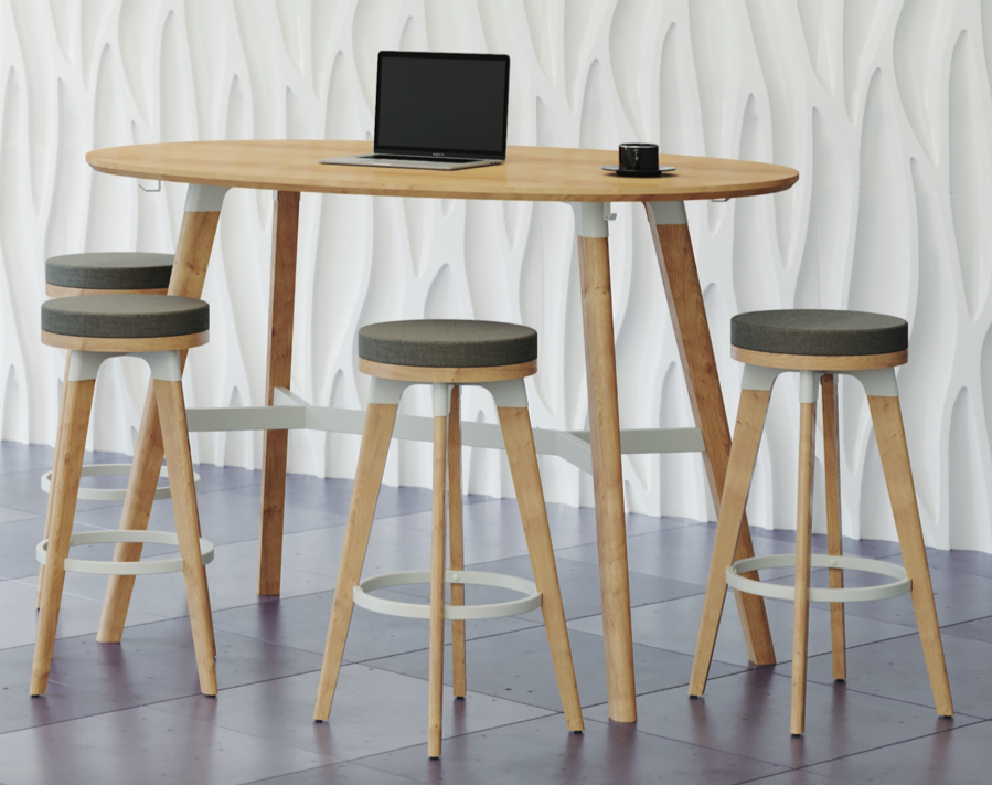 safco model 1721na resi table and stools