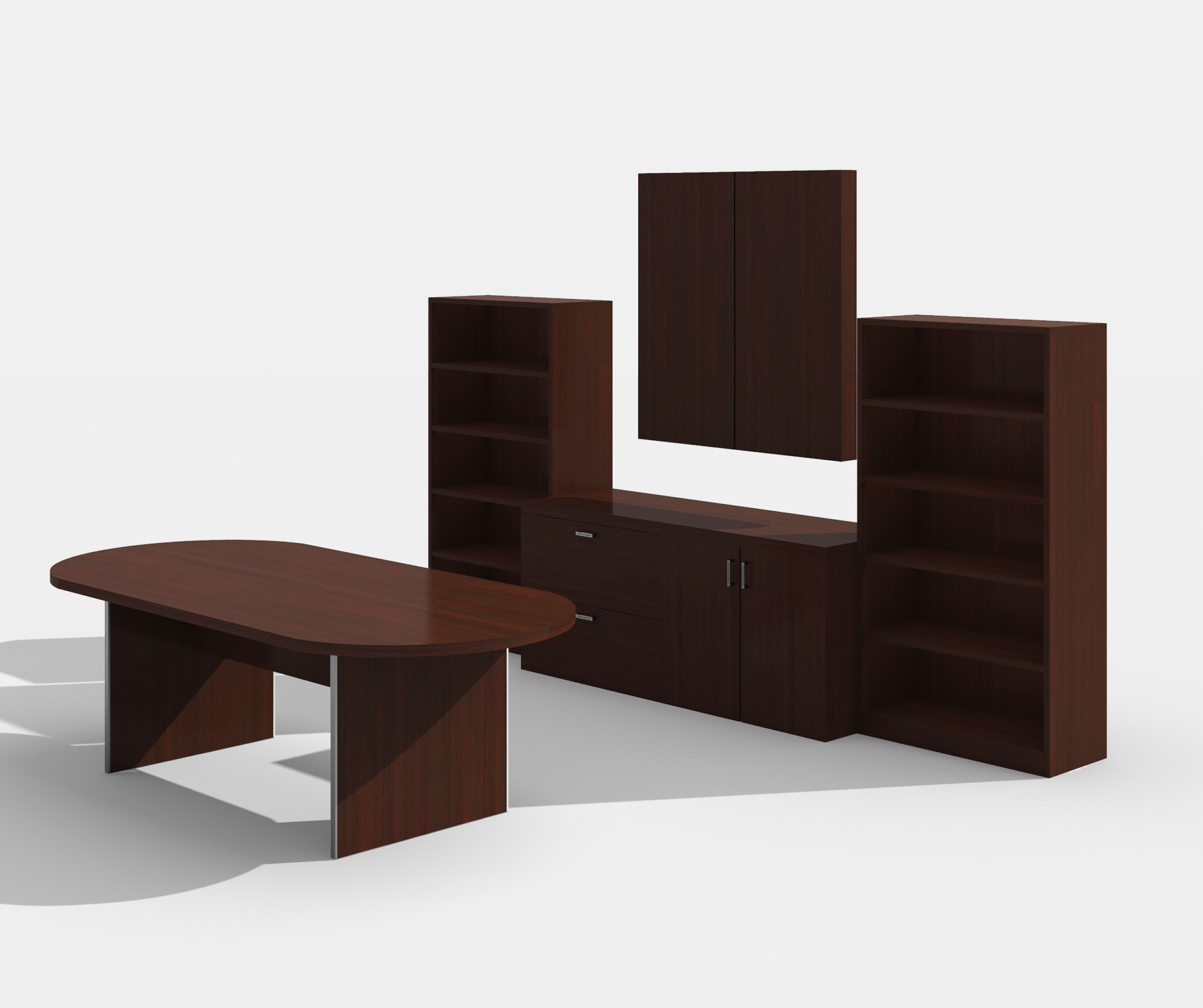 amber mahogany complete conference furniture set