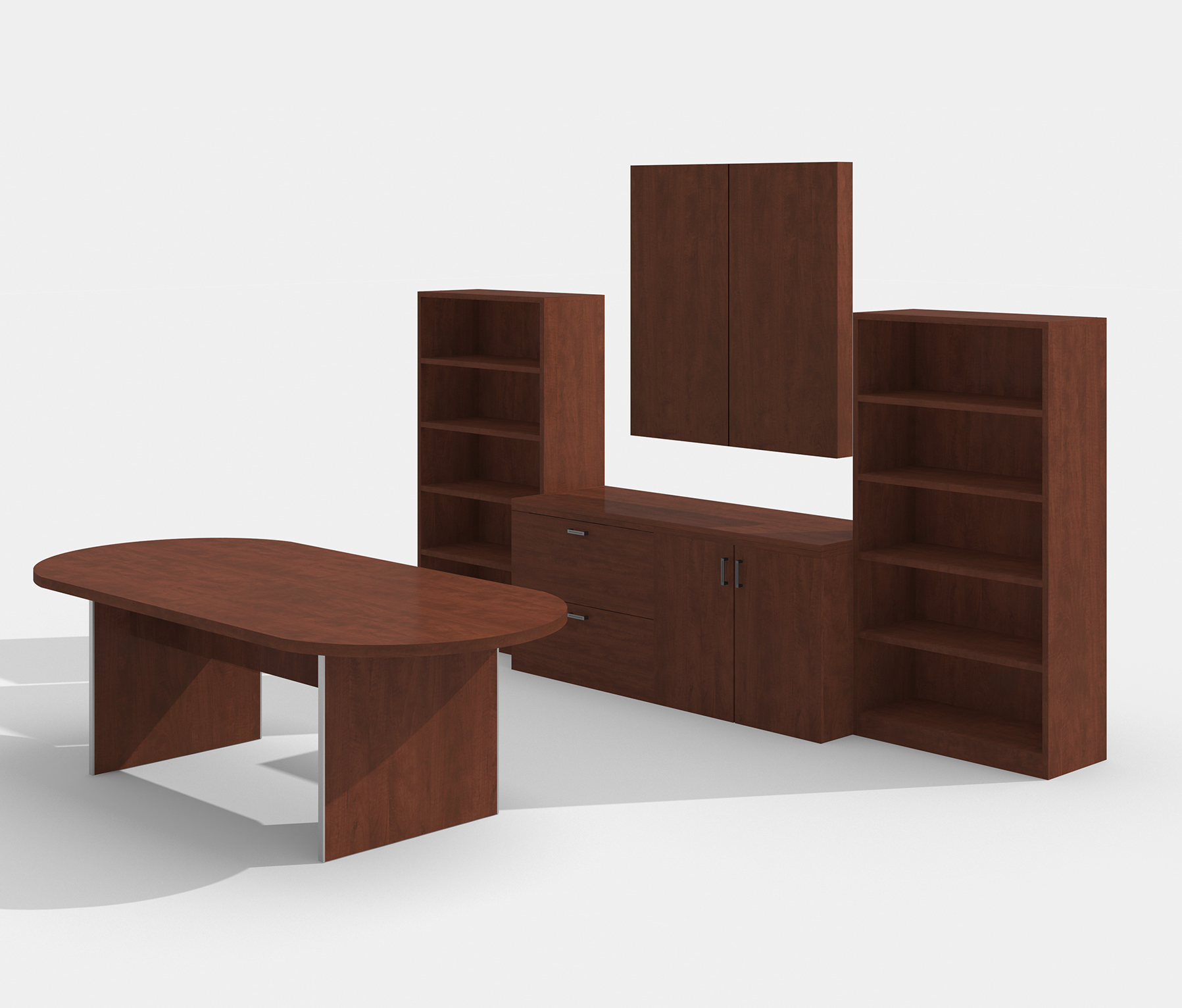 amber cherry complete conference furniture set