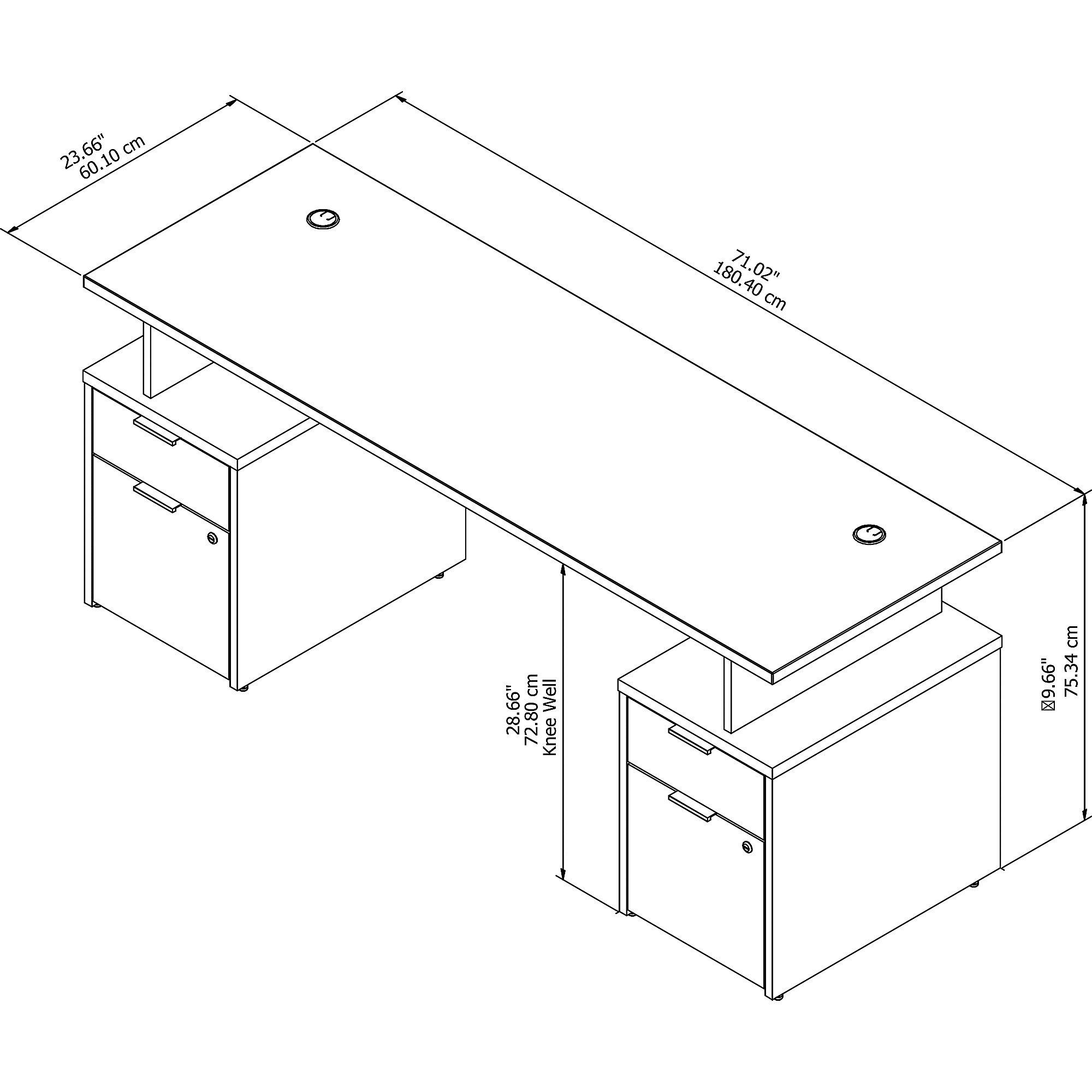 jtn005 jamestown desk dimensions