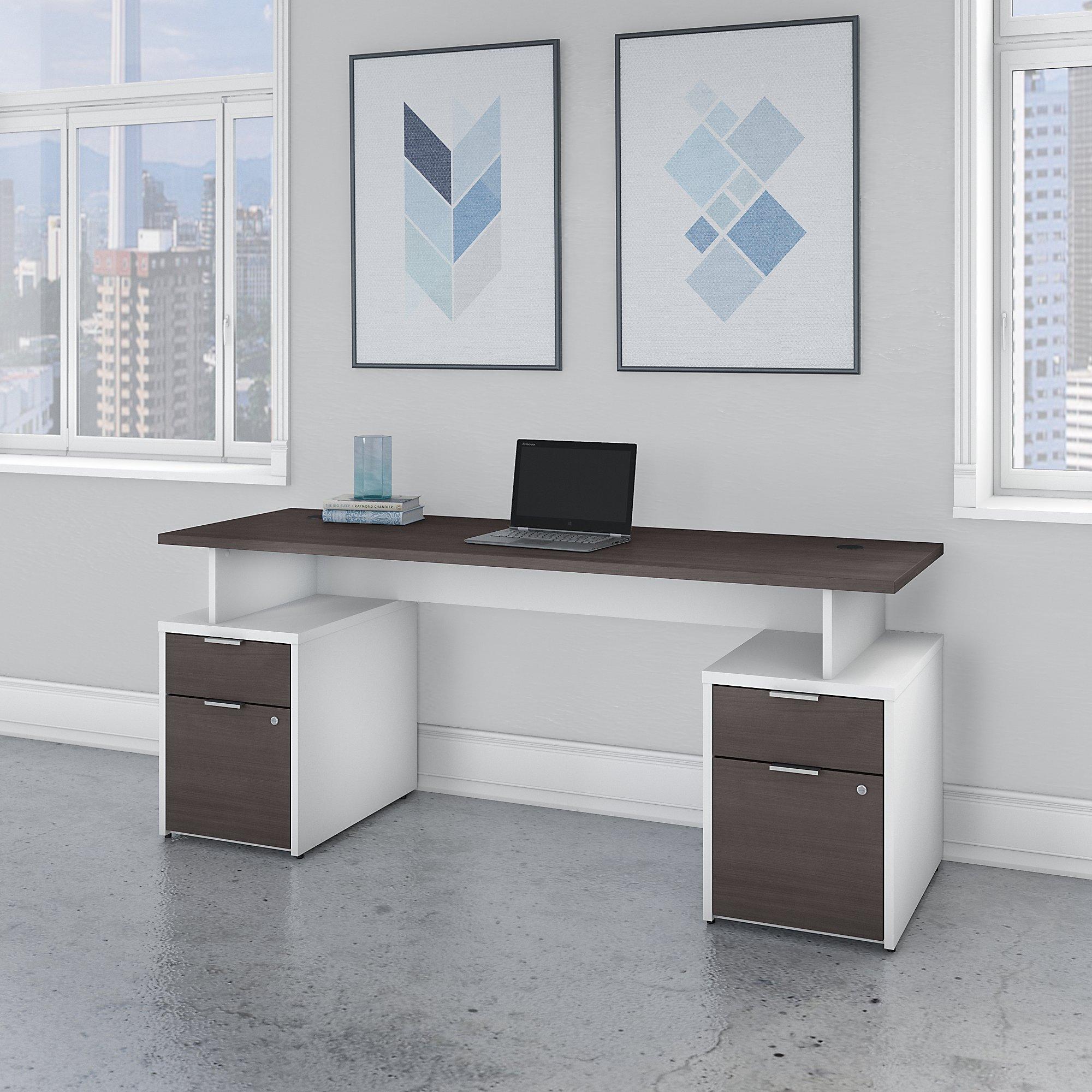 jtn005 storm gray and white jamestown desk