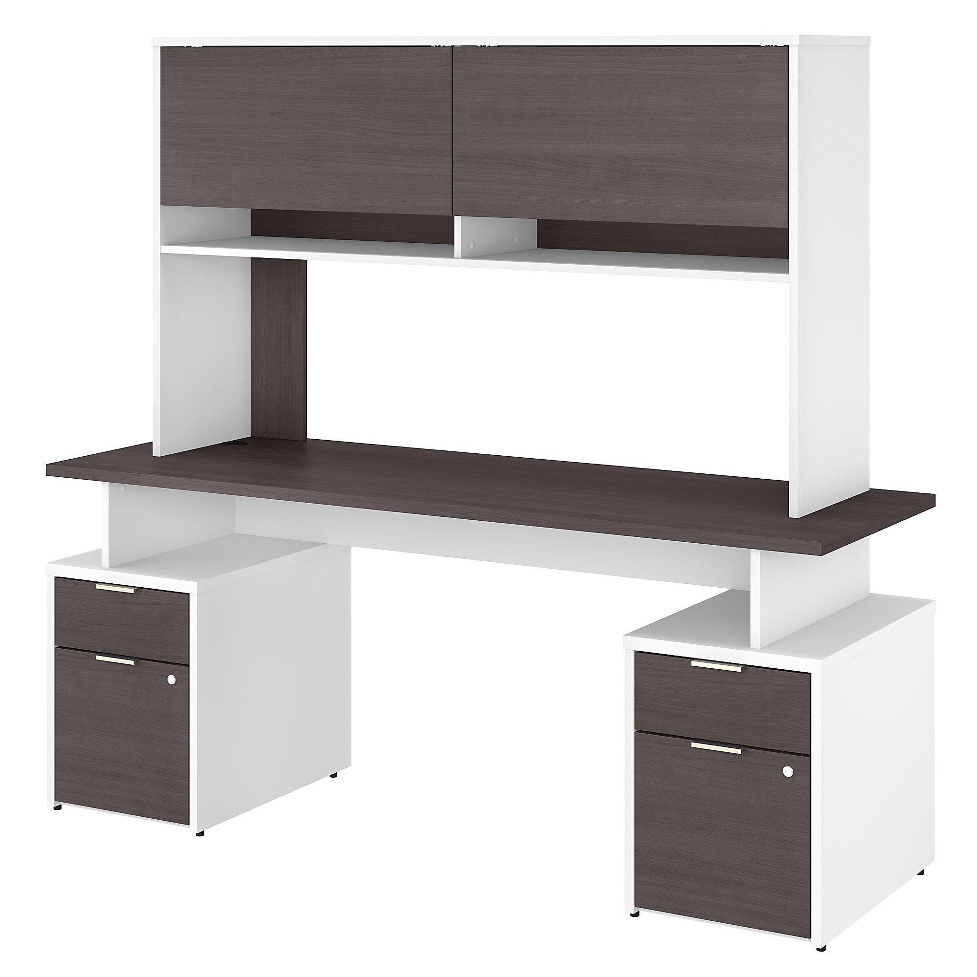 jtn006 storm gray and white jamestown desk