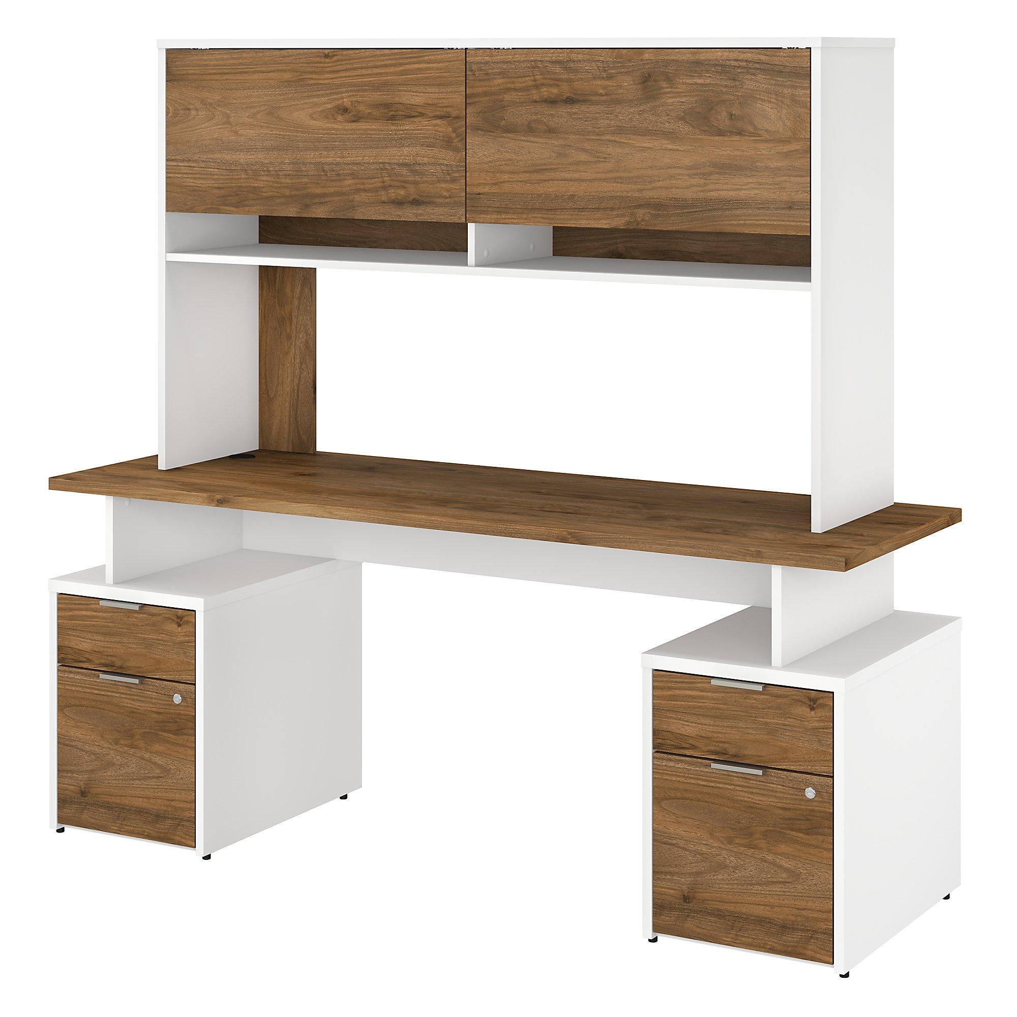 jtn006 fresh walnut and white jamestown desk