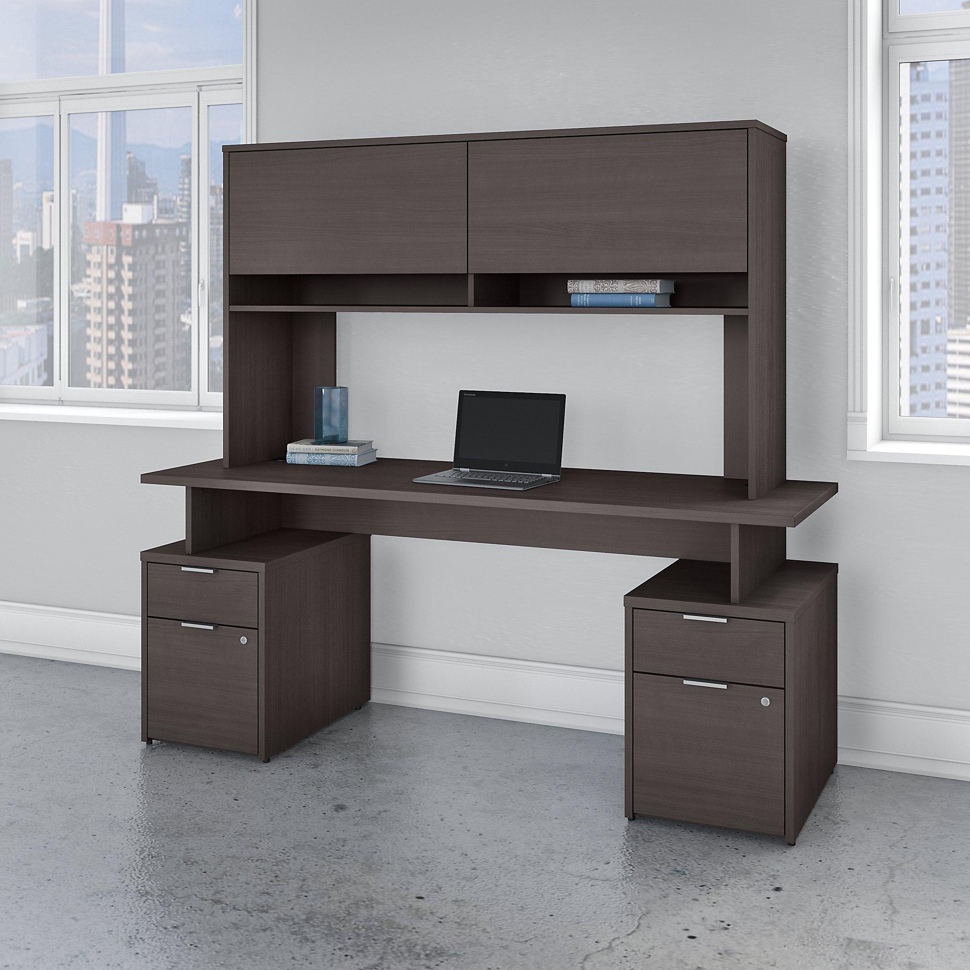 storm gray jamestown desk with hutch