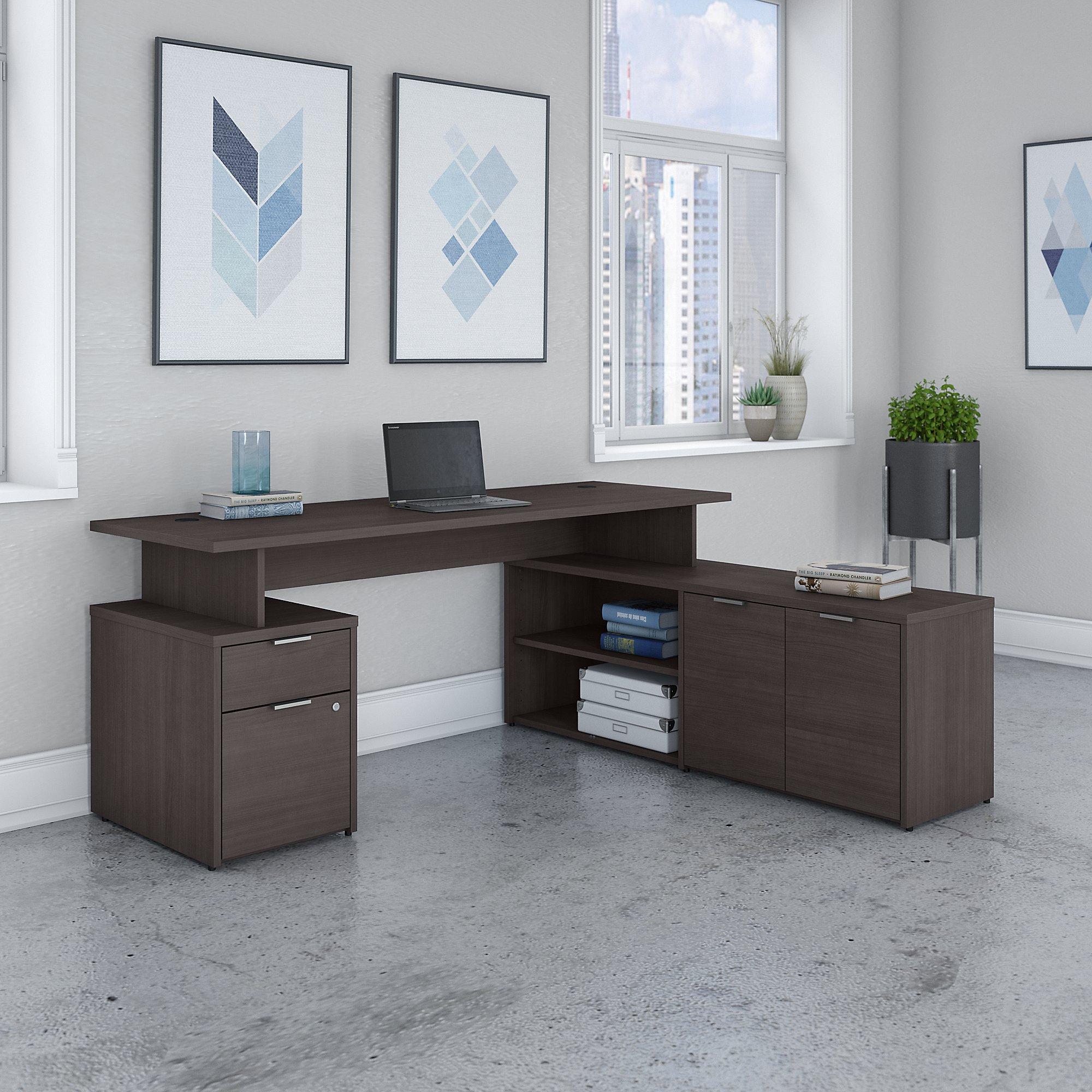 jamestown collection gray l-desk
