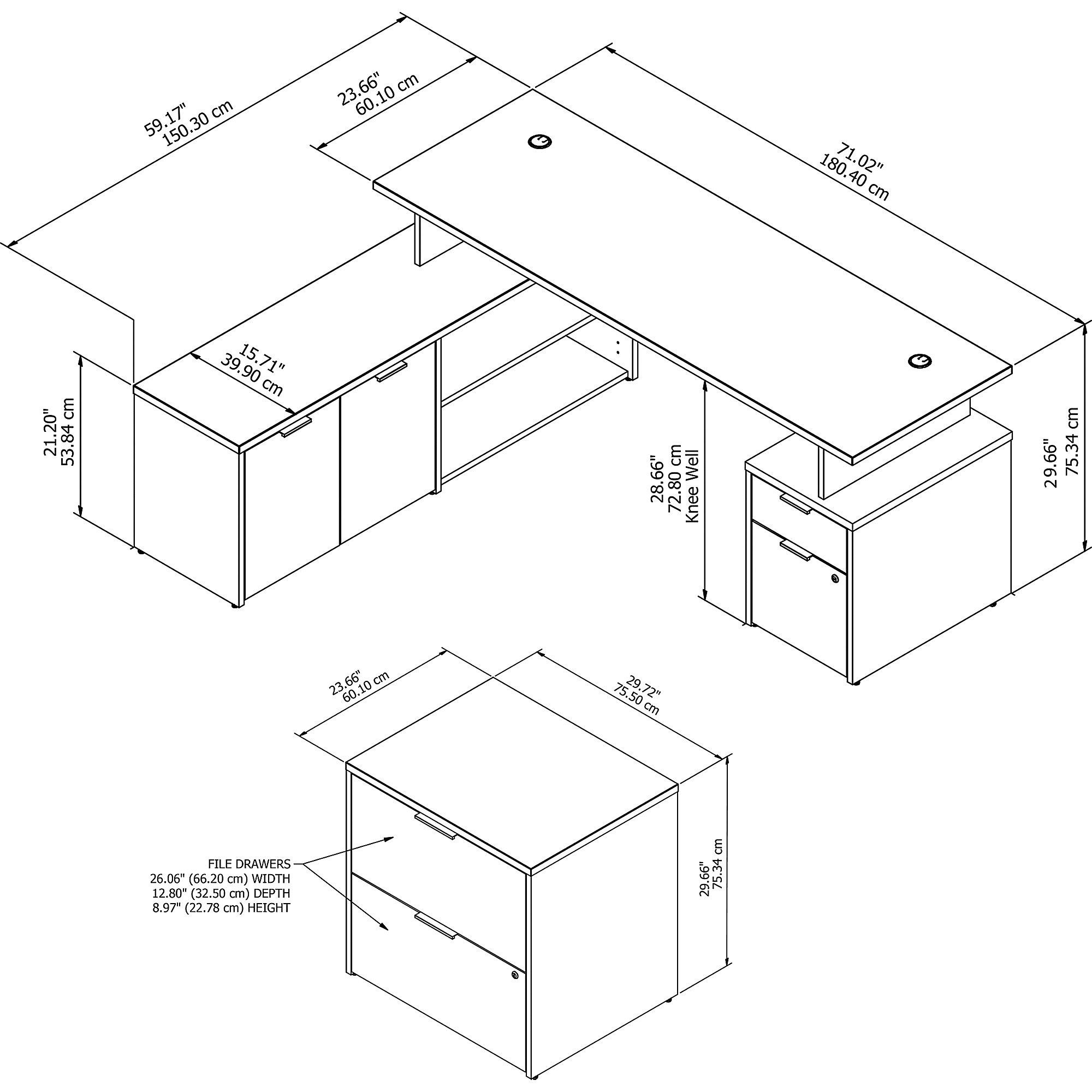 jtn010 jamestown desk dimensions