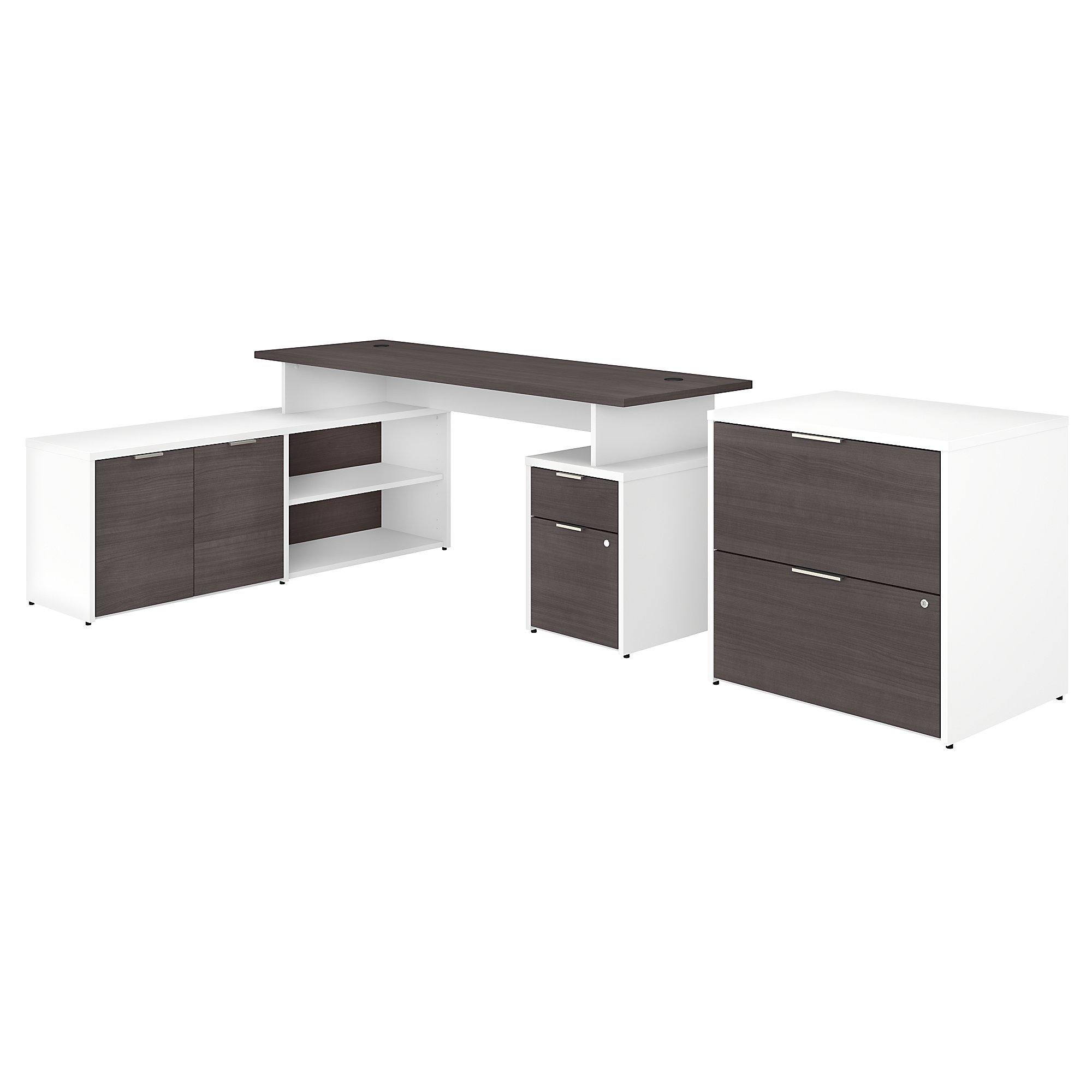 jtn010 jamestown storm gray and white desk
