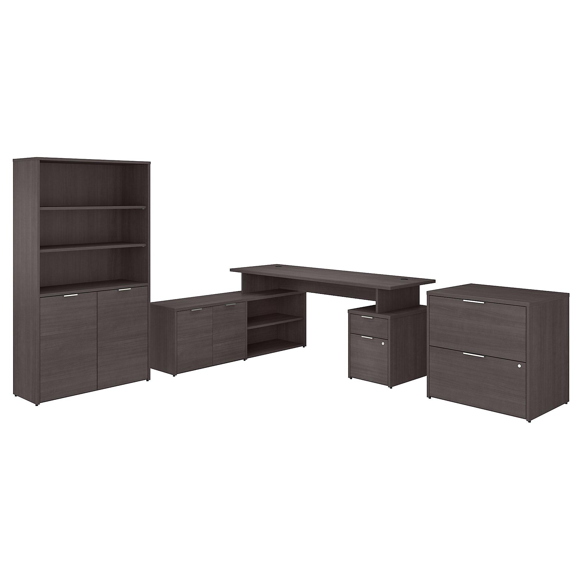 bbf jamestown gray desk set