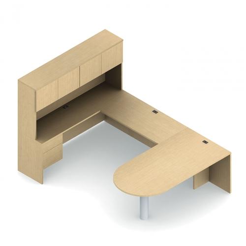 Global Adaptabilities U Shaped Peninsula Style Executive Desk ADP503R
