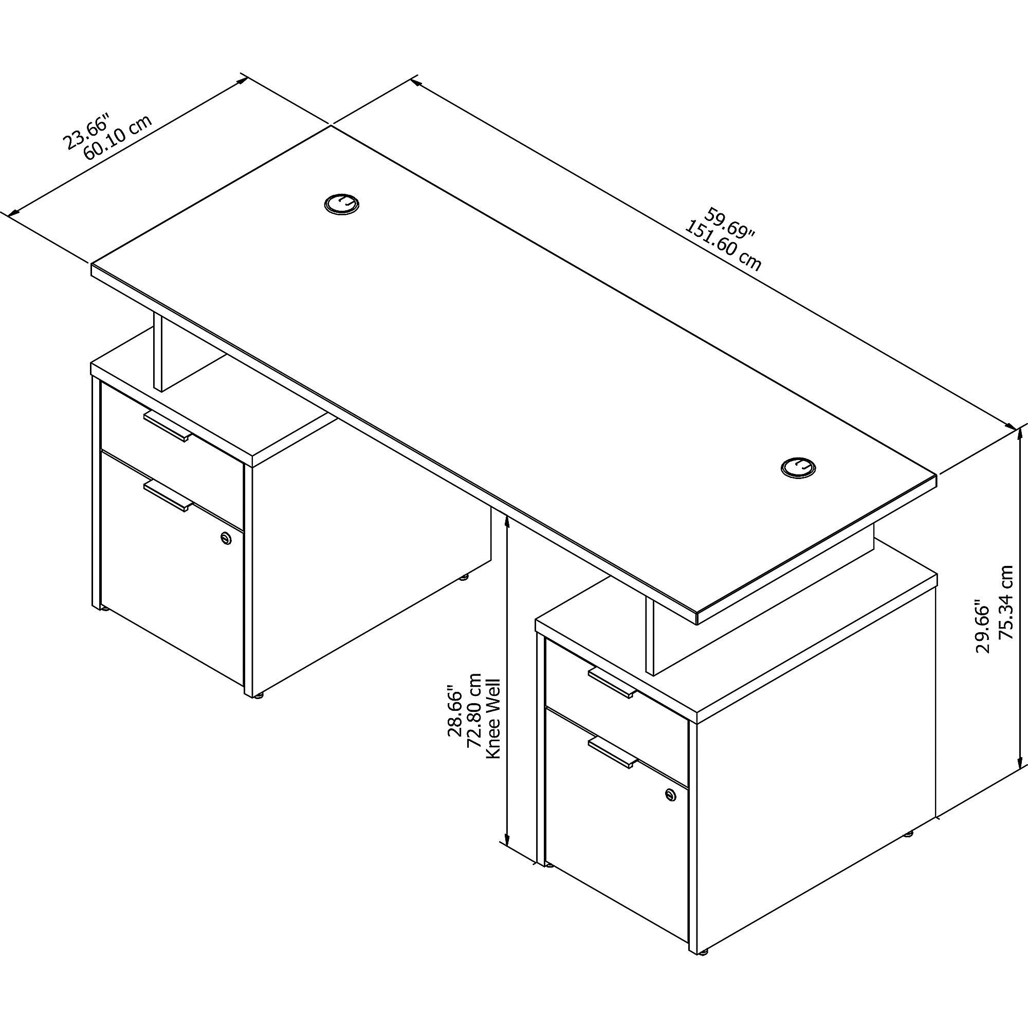 jamestown model jtn017 desk dimensions