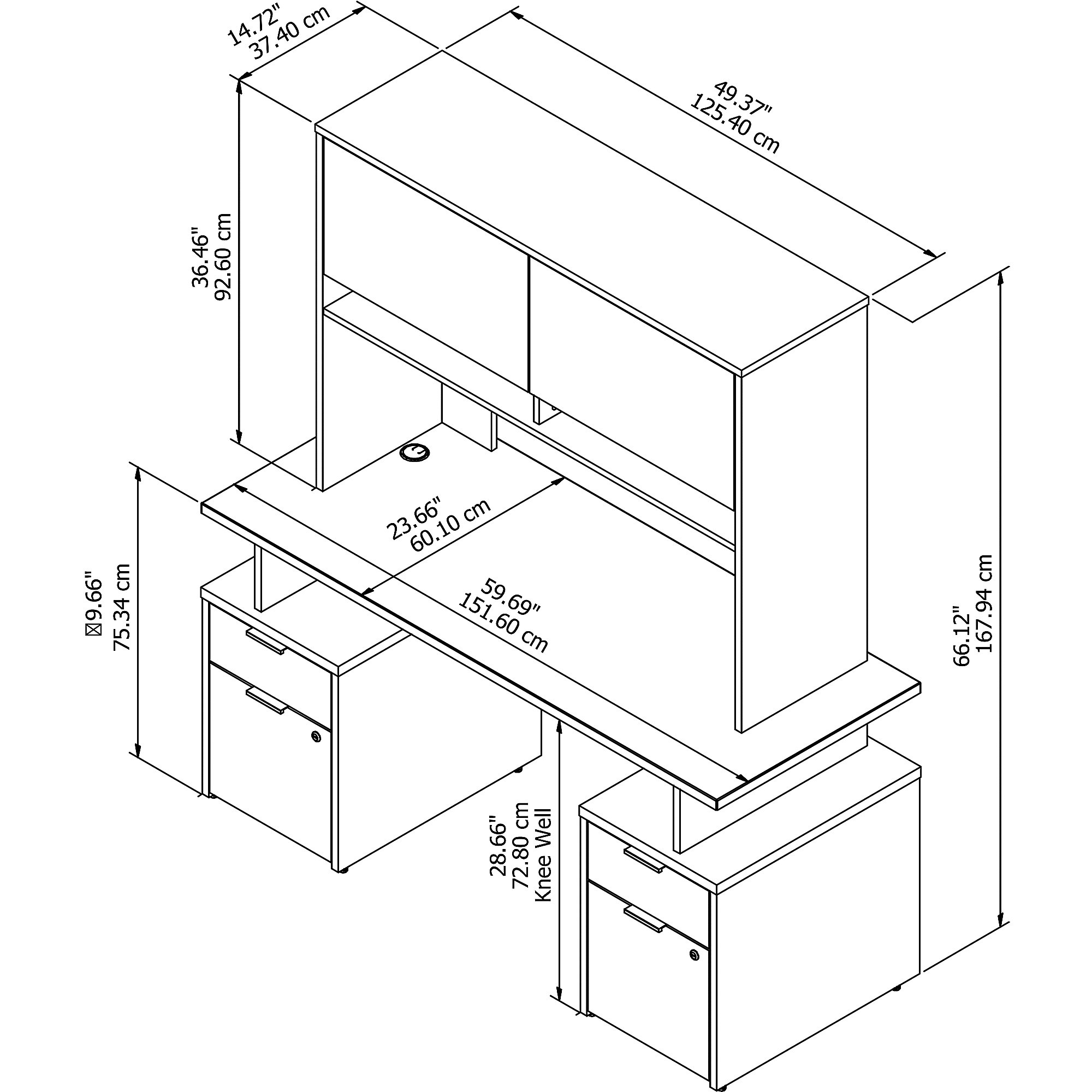 jamestown jtn018 desk dimensions