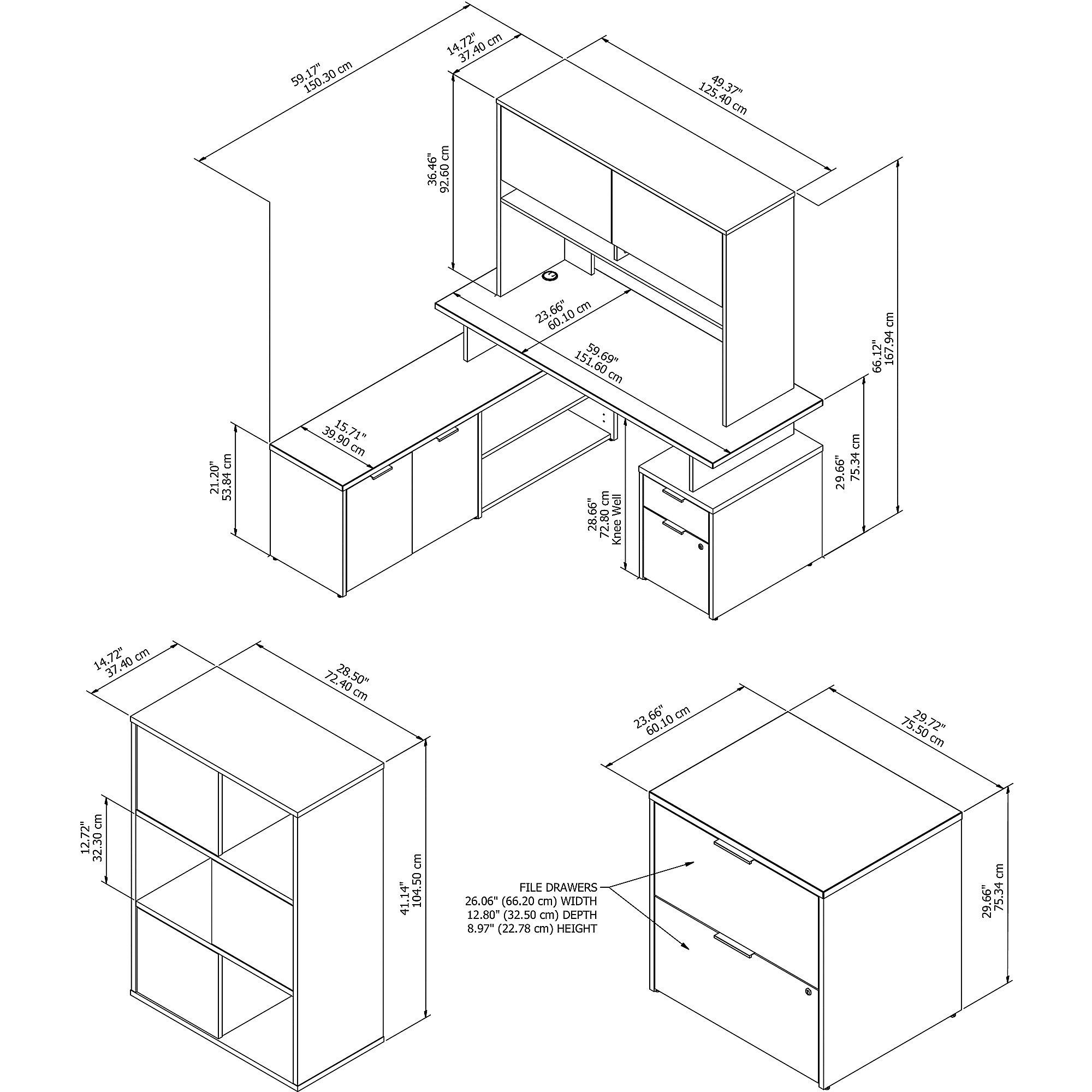 jtn024 desk set dimensions