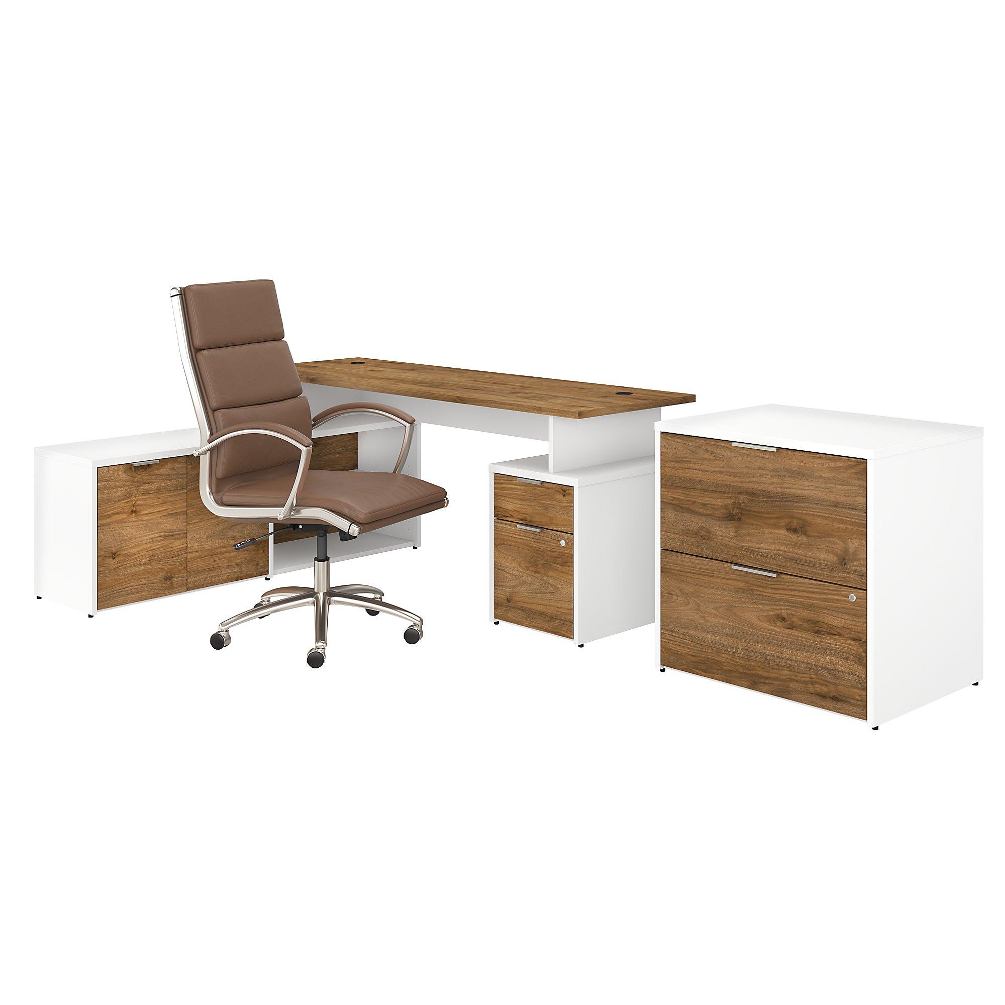 jamestown walnut desk configuration with chair
