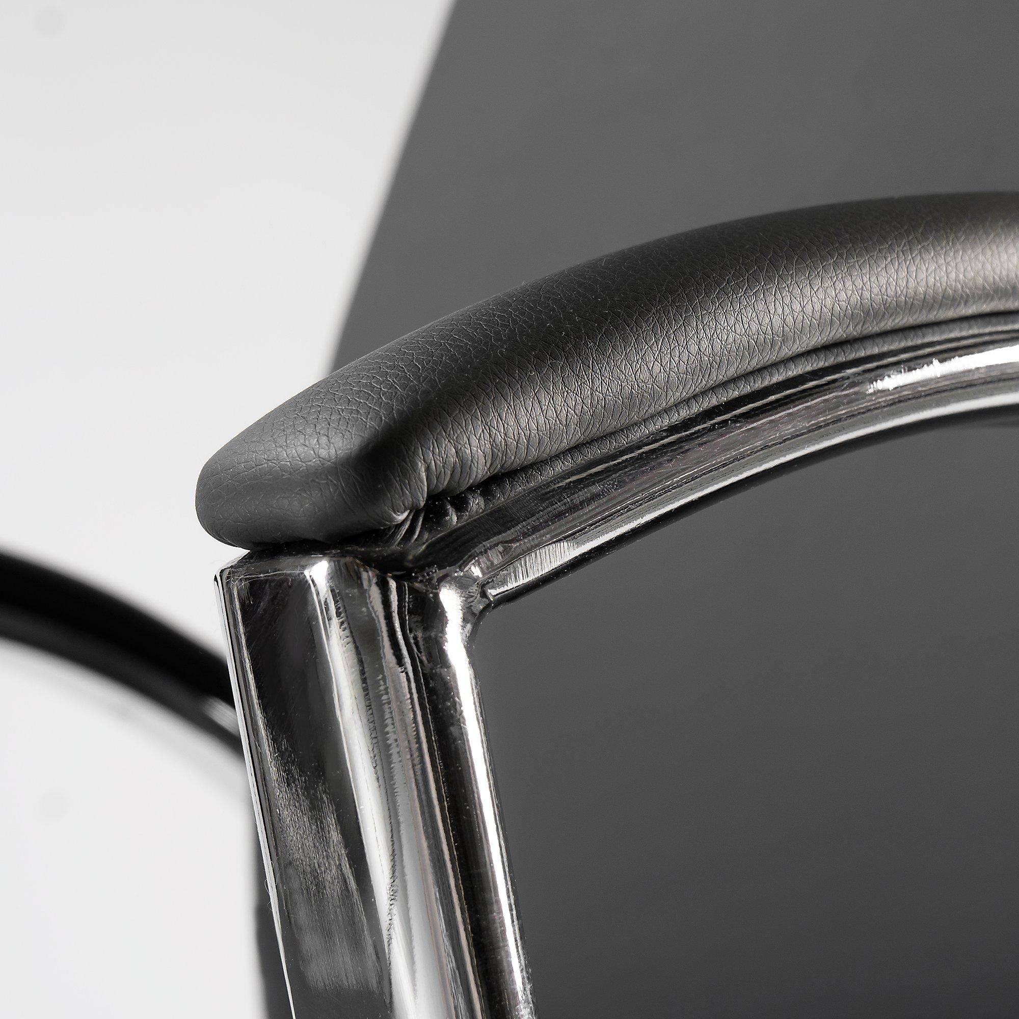 jamestown dark gray leather chair
