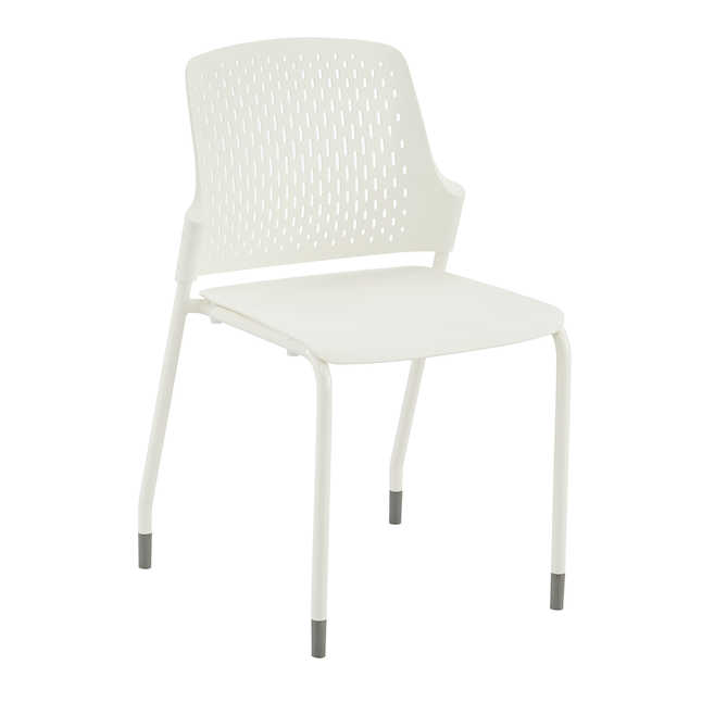 white next stack chair