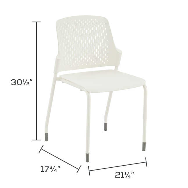 safco next chair dimensions